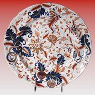 Rare Copeland & Garrett Plate, English Imari, Antique Early 19th C,