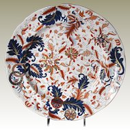 "Rare Copeland & Garrett Plate, English Imari, Antique Early 19th C, ""New Fayence"""
