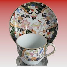 Small Chinoiserie Cup and Saucer, Morley & Ashworth Ironstone, Antique 19th C English