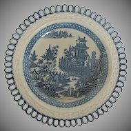 "Turner Dessert Plate, Rare ""Elephant"" Pattern, Antique, Late 18 C - Early 19 C"