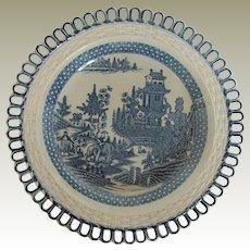 "Turner Dessert Plate, Rare ""Elephant"" Pattern, Antique, Late 18 C - Early 19 C"