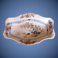 "Antique Wedgwood Stone China Dish, ""Ducks"" Pattern, Early 19th C"