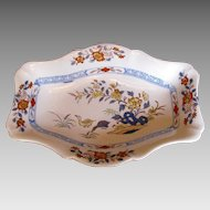 "Rare Wedgwood Stone China Dish, ""Ducks"" Pattern, Antique Early 19th C"