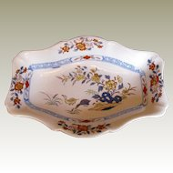 """Rare Wedgwood Stone China Comport, Rare """"Ducks"""" Pattern, Antique Early 19th C"""