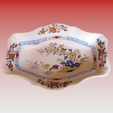 "Rare Wedgwood Stone China Dish, ""Ducks"" Pattern, Antique Early 19th C"