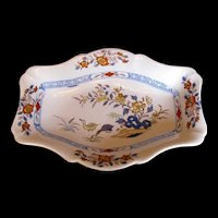 "Antique Wedgwood Stone China Dish, ""Ducks"" Pattern, Early 19th C"