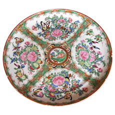 Large Chinese Export Rose Medallion Plate,  Antique 19th C