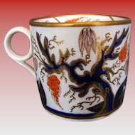 "Antique New Hall Coffee Can, ""Imari Vine"", Early 19th C English Porcelain"