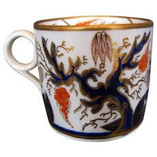 Antique New Hall Coffee Can, English Imari, Early 19th C Porcelain