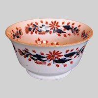 Antique English Imari Waste Bowl, Coalport Early 19th C