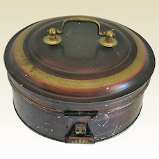 Antique Toleware Spice Box Set with 7 Containers, 19th C