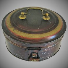 Tole/Toleware Spice Box Set with 7 Containers, Antique 19th C