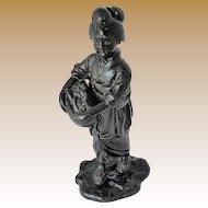 Tokyo School Bronze Sculpture, Antique Meijii Period