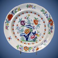 Antique Plate, English Chinoiserie, Ridgway Early 19th C