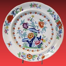Ridgway English Chinoiserie Plate, Antique Early 19th C