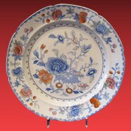 Mason's Ironstone Plate, Antique Early 19th C, Rare 1st Mark & Pattern #1, India Grasshopper