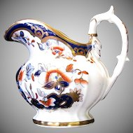 Joseph Machin Creamer, Rare Dolphin Handled Shape, English Imari, Antique Early 19th C