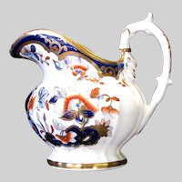 Antique Machin Porcelain Creamer, English Imari, Early 19th C