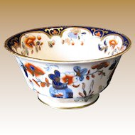 Rare Joseph Machin Waste Bowl, English Imari Porcelain, Antique Early 19th C