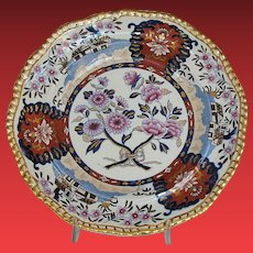 """Antique Spode Plate, """"Imari Cottage"""", Early 19th C English"""