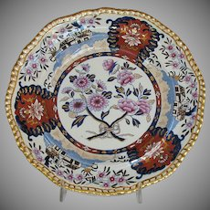 "Antique Spode Plate, ""Imari Cottage"", Early 19th C English"