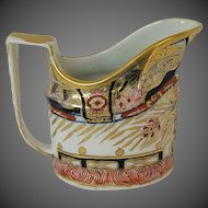 Antique English Imari Creamer, Coalport Early 19th C