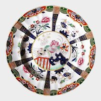 """Antique Ashworth/Mason's Ironstone Plate, """"Fence and Muscovy Ducks"""", 19th C English Chinoiserie"""