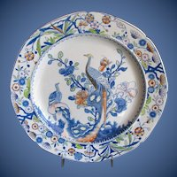 Antique Mason's Ironstone Plate, ~ LONG TAILED PHEASANT ~  c 1815 Mark