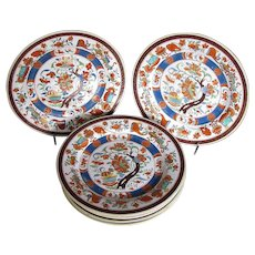 "Antique Minton Plates, Rare ""First Period"", English Imari,  Set of 6"