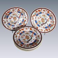 "Antique ""First Period""  Minton Plates, Set of Six,  Imari Colors"