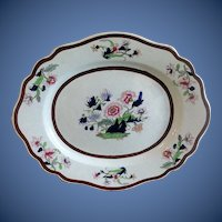 Antique English Large Platter, Imperial Stone China,  Early 19th C Ridgway