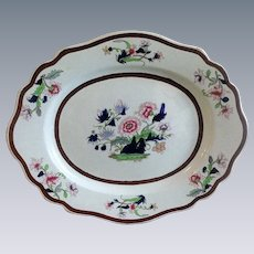 Ridgway Large Platter, Imperial Stone China, Antique Early 19th C English