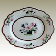 John Ridgway Large Platter, Imperial Stone China, Antique Early 19th C English