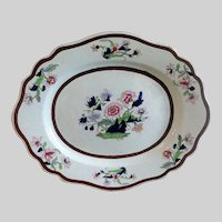 Antique Ridgway Large Platter, Imperial Stone China,  Early 19th C English