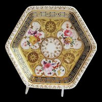 Antique Ridgway Teapot Stand, Early 19th C English Porcelain