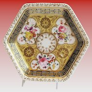 Ridgway Teapot Stand,  Richly Decorated, Antique Early 19th C English Porcelain