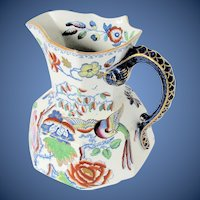 "Antique Mason's Ironstone Large Pitcher / Jug,  ""Flying Bird"", Early 19th C"