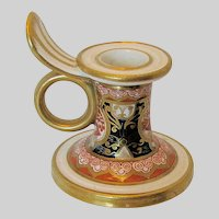 "Antique Spode Miniature Chamberstick,  Imari ""Dollar Pattern"",  Early 19th C English"