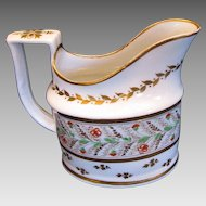 """Rare Early Minton """"First Period"""" Creamer, Pattern 73, Antique Early 19th C"""