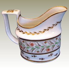 "Rare Early Minton ""First Period"" Creamer, Pattern 73, Antique Early 19th C"