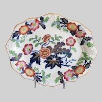 Antique Ridgway Tray, English Imari, Early 19C Ironstone