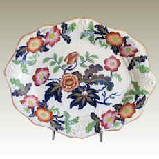 John & William Ridgway Small Platter or Undertray, Antique English  c 1830