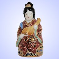 Small Vintage Japanese Goddess Figurine, Patron of Artists, Writers & Dancers