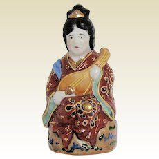 Small Vintage Japanese Goddess Figurine, Patron of Artists, Writers & Dancers