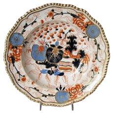 Antique Worcester Soup Plate/Bowl, Grainger, Lee & Co, Early 19th C English Imari