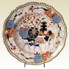 Antique Worcester Soup Plate/Bowl, Grainger, Lee & Co, Early 19th C English Imari