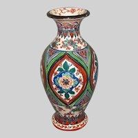 Antique Vase, Iznik/Persian/De Morgan Style, 19th C