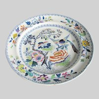 "Antique Hicks & Meigh Plate, Stone China, ""Flying Bird"",  Early 19C"