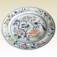 "Antique ""Flying Bird"" Dinner Plate, Hicks & Meigh Stone China, Early 19C"