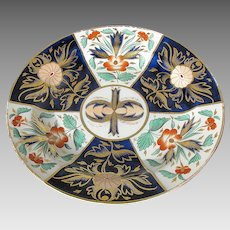 Rare Wedgwood Plate, Gilded Imari Crab Claw Pattern, Antique Early 19th C